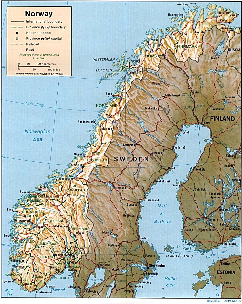 #Map of #Norway - norway_rel96.jpg (982×1230)