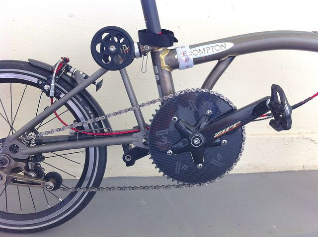 Using 53t Carbon Chainring From Fibre Lyte Brompton Bicycle
