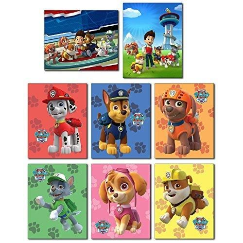 PAW PATROL Wall Art Poster Prints   Set Of Eight 8x10 Photos   Everest  Ryder Chase