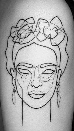 Frida Kahlo Tattoo People Frida Kahlo Colour Arm Tattoo Frida Kahlo Tattoos Line Art Tattoos Pixie Tattoo