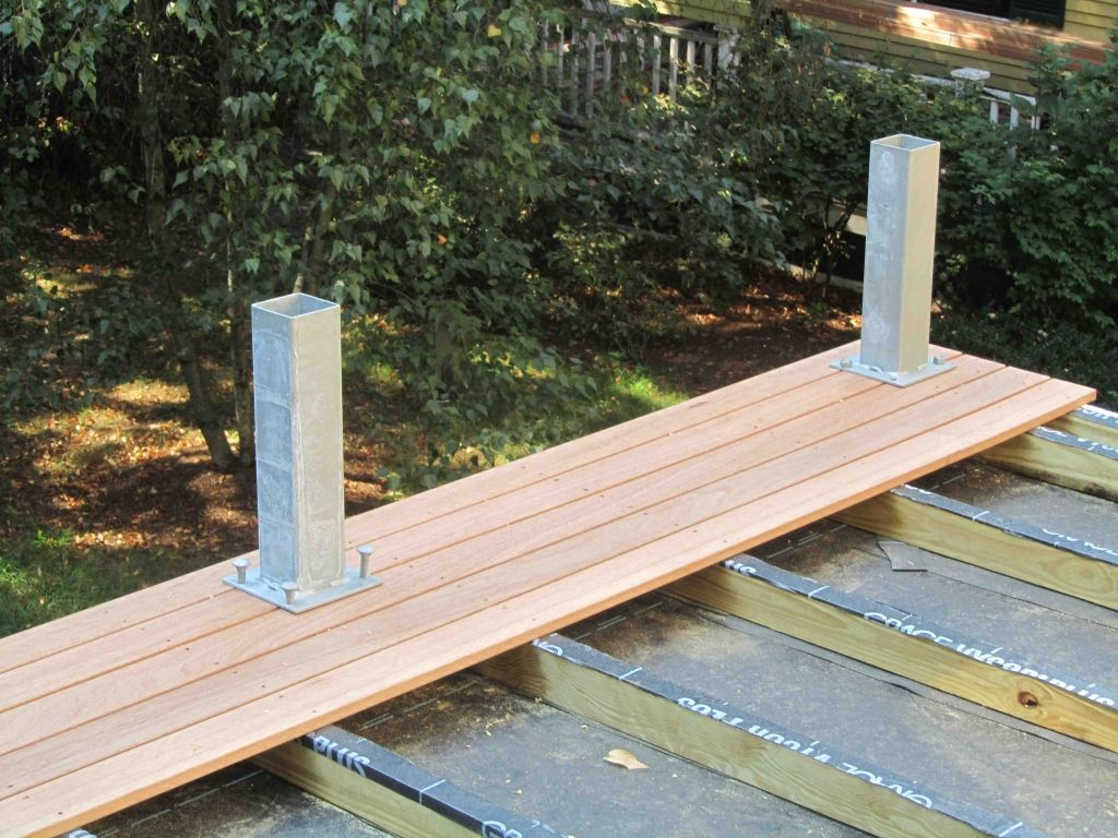 Deck Over Flat Roof Construction Roof Deck Building A Deck Flat Roof