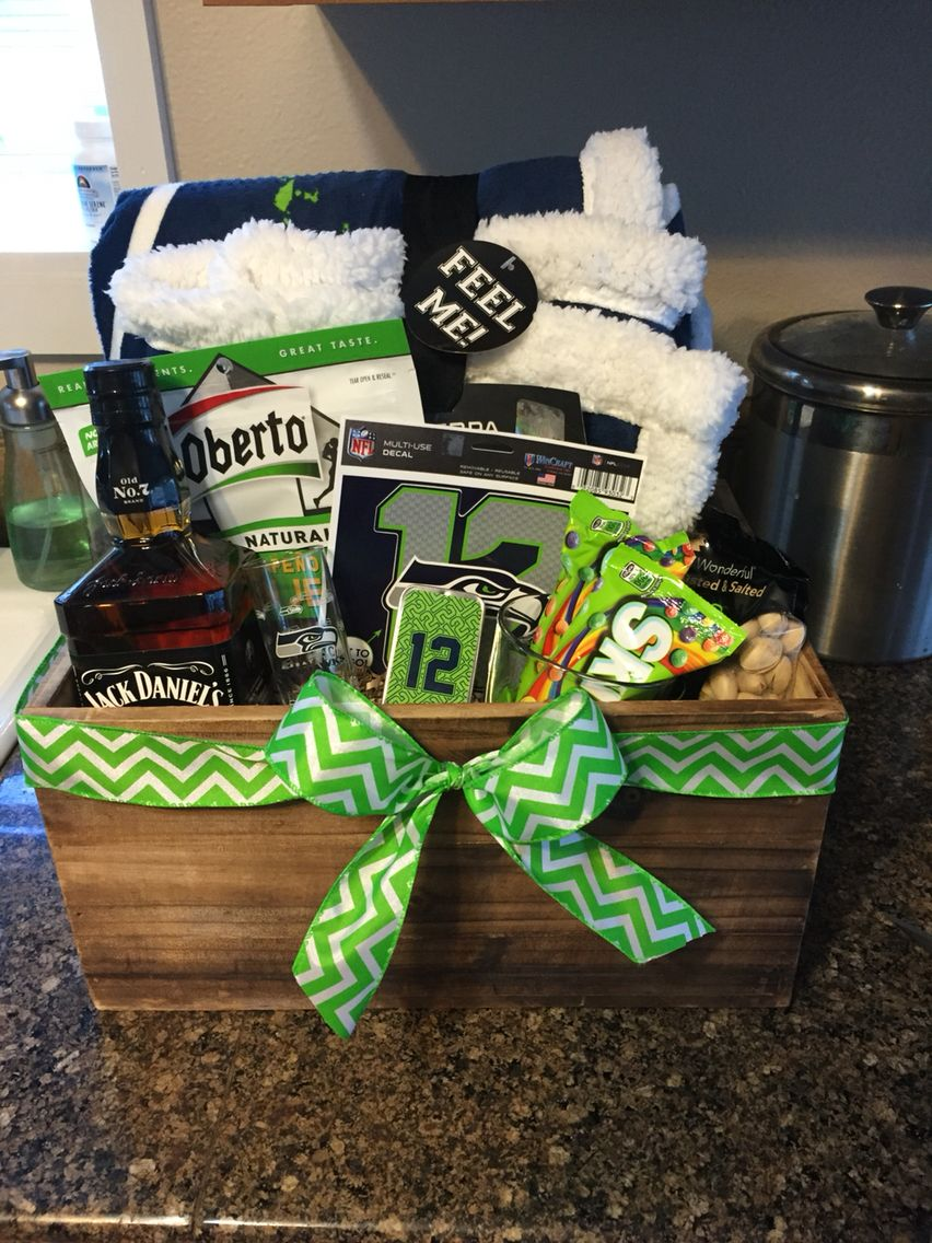 Gifts For Men Seahawks Blue And Green Baskets With Images