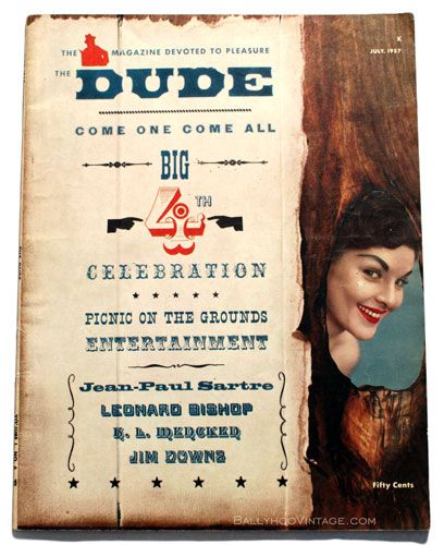 Vintage The Dude Magazine 1957 With Images Vintage Books