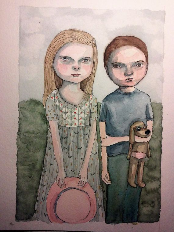 Original artwork Best friends by LutjeAnna on Etsy