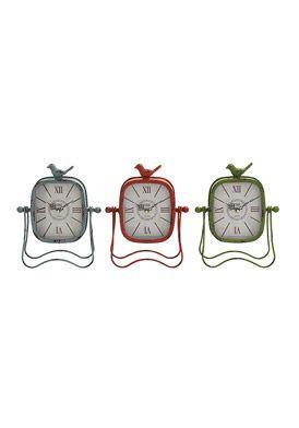 Decorative Metal Table Clocks - Set of 3