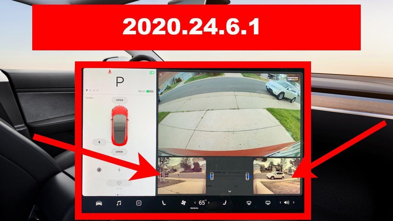 Tesla Software Update 2020 24 6 1 Demo Big Update Side Cameras Gr App Remote Software Update Tesla