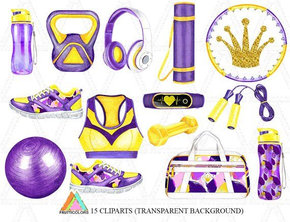 Fitness Clipart Fashion Illustration Yoga Clip Art Sport Workout Graphics  African American Girl Watercolor Clipart Planner Stickers