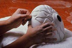 lynne meade carved vessel white porcelain bone dry pottery ceramics clay
