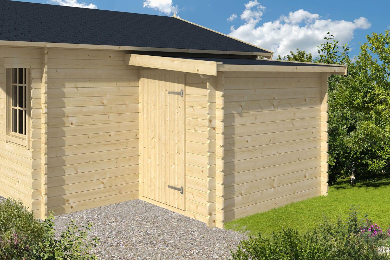 log cabin additional 28mm storage annex - Garden Sheds 5m X 3m