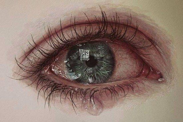 Amazing anxiety beautiful color crying drawing eyes realistic