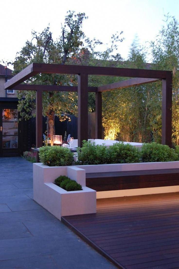 Garden landscape night  outdoor lighting night garden contemporary garden Garden in West