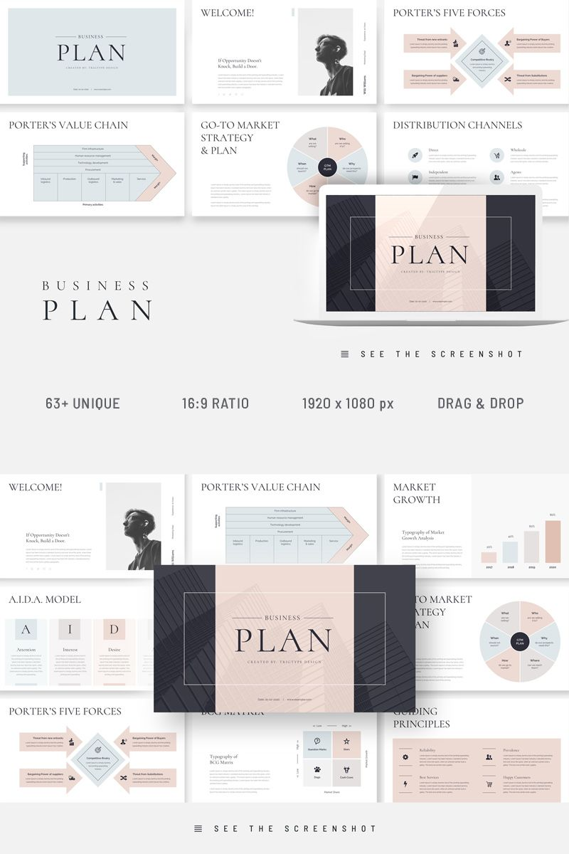 Business Plan Presentation PowerPoint Template 94752 in