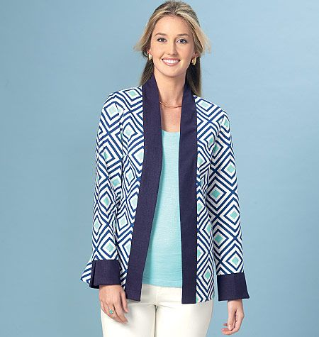 Kwik Sew 4162 Misses Open Front Banded Jackets Kwik Sew Sewing