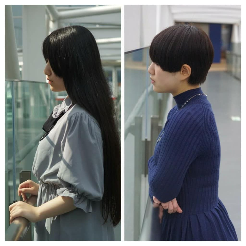 Manasu On Instagram 夏と冬の劇的びふぉーあふたー なんか髪色も