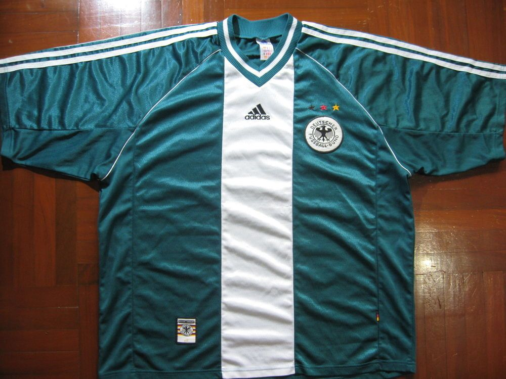 0e1b379c519 ADIDAS GERMANY WORLD CUP 1998 AWAY FOOTBALL SOCCER JERSEY SHIRT XXL VTG  TRIKOT  adidas  GERMANY