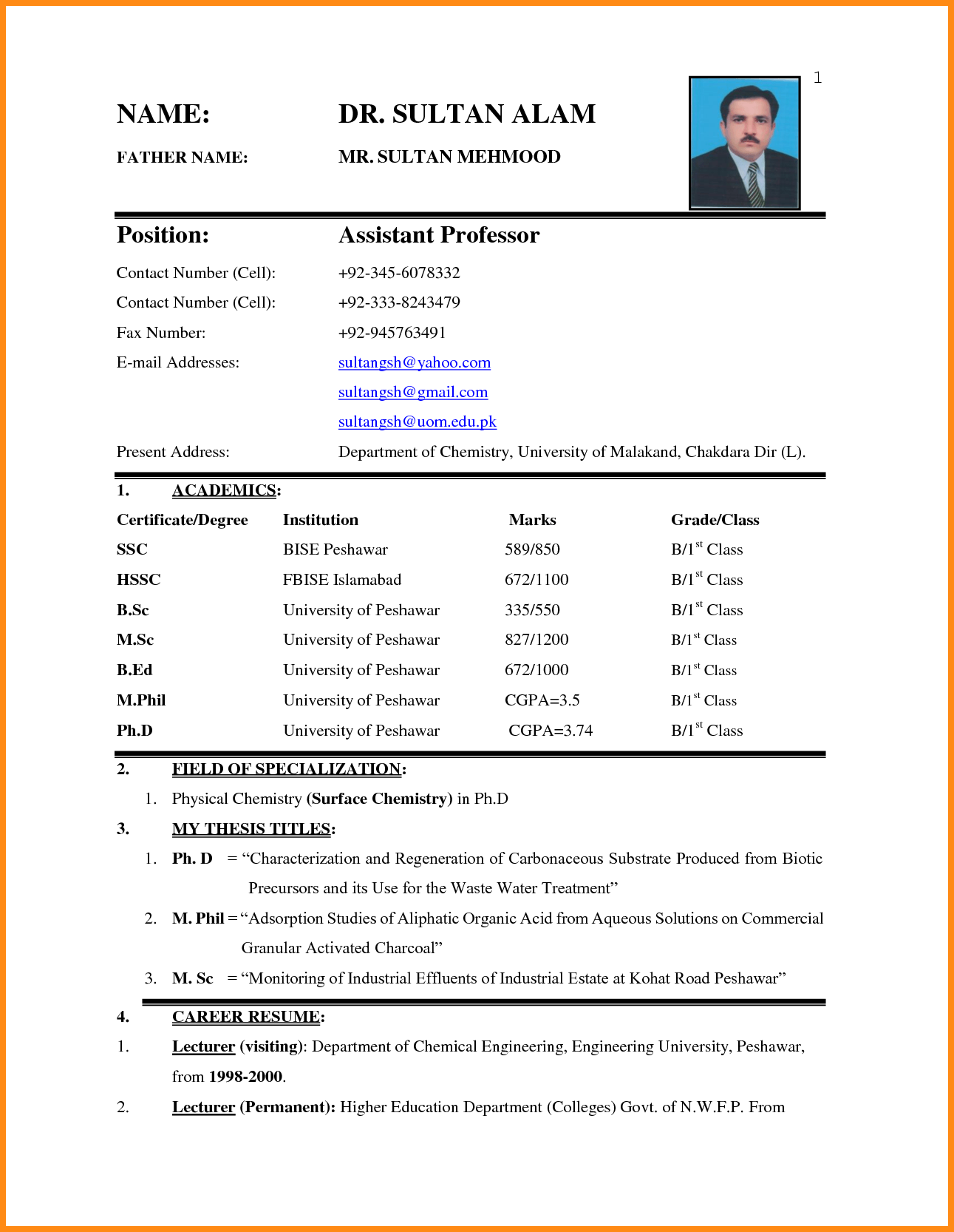 Resume Format Application Image Result For Biodata Format For Job Application