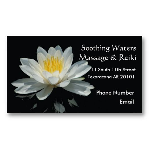 Floating Lotus Flower Appointment Card