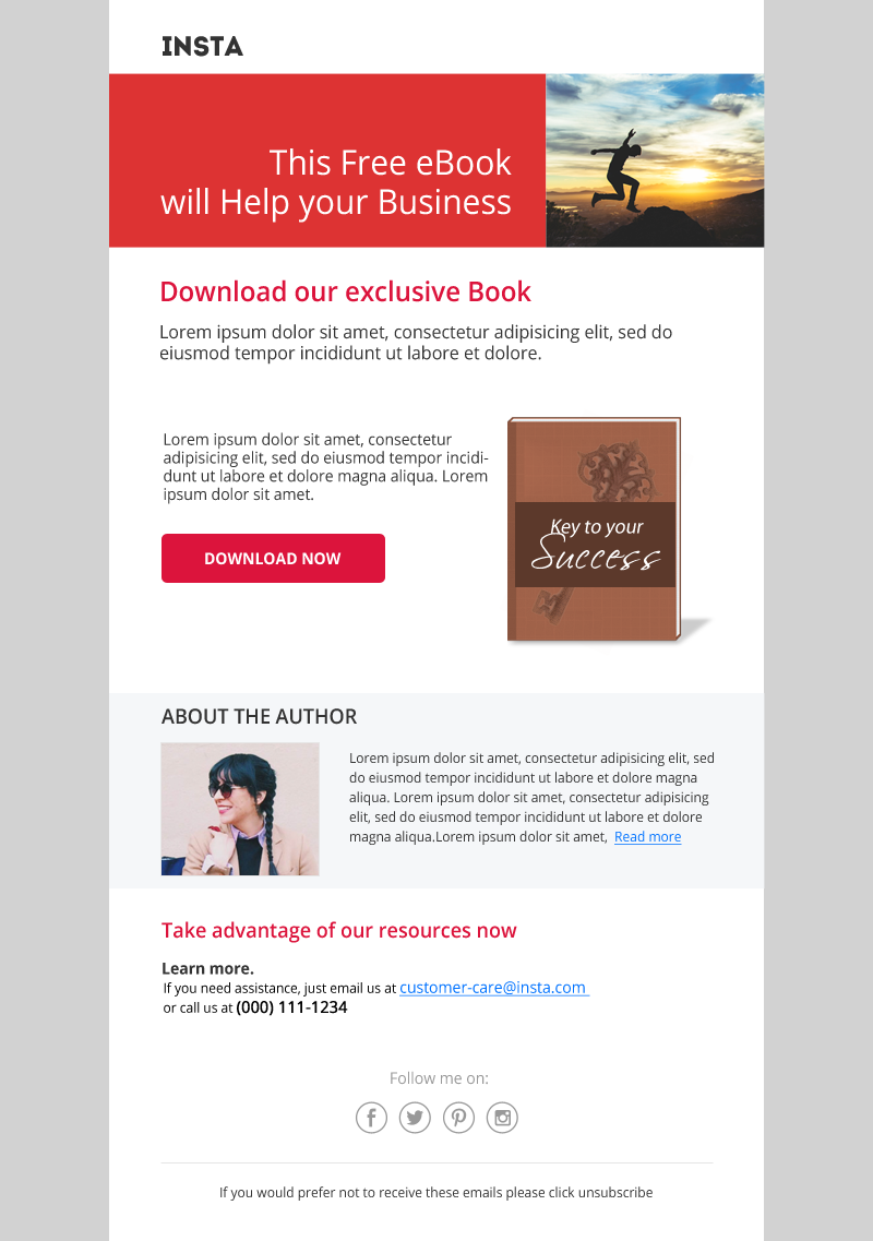 Insta Stamplia Builder Customer Relationship Email Templates