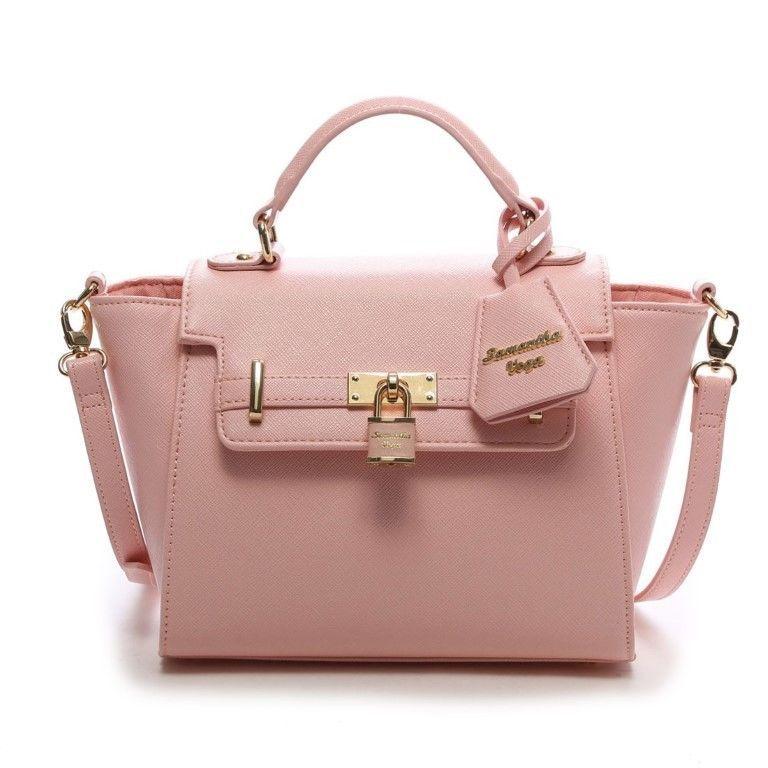 6f12744e5b50 Samantha Vega Thavasa Padlock Hand Shoulder 2 Way Bag Small Baby Pink Japan  NEW  SamanthaThavasa