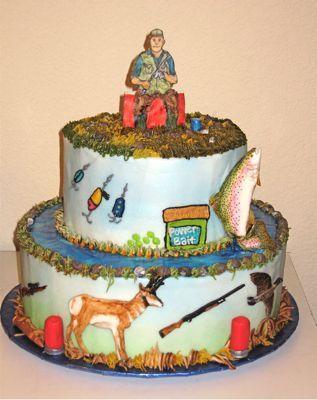 huntin and fishin man birthday cake ki might be swayed from on birthday cake ki photos