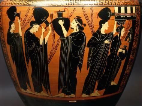 Photographic Print Women At A Fountain Black Figure Amphora 7th Century Bc Attic Greek 24x18in Black Figure Ancient Greek Art Pottery Art