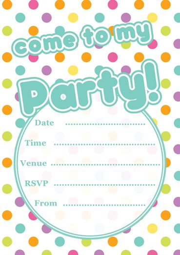 Free Printable Polka Dot Party Invitations Template Party - free birthday invite template