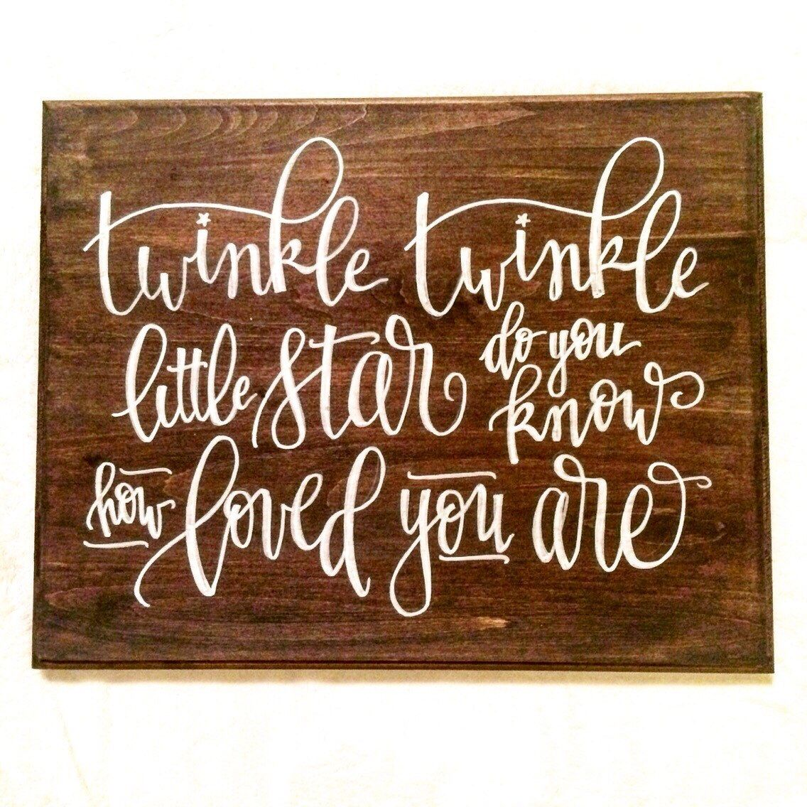Baby nursery sign quot twinkle little star hand
