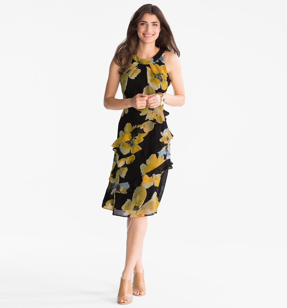 Kleid in gelb | Fashion, Dresses, Dresses for work