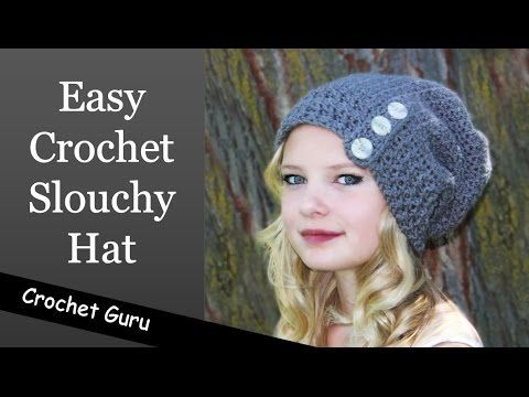 How To Crochet A Slouchy Hat Sideways Shell Slouch Hat Pattern
