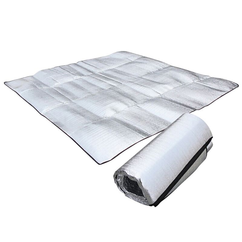 2 * m double-sided aluminum membrane thickening crawl picnic mat d&proof mat pad c&ing mattress  sc 1 st  Pinterest & Portable Camping Mat //Price: $9.95 u0026 FREE Shipping  Use Coupon ...