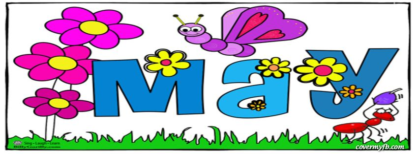 May banner. Month of for spring