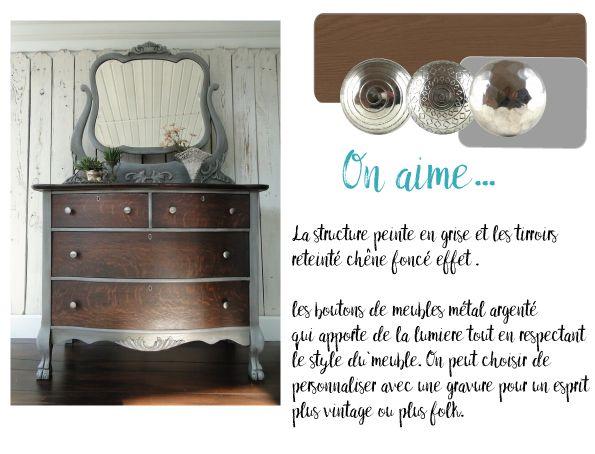 relooking meuble, gris, customisation meuble vintage, diy meuble