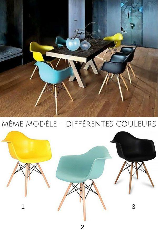 Chaises Dépareillées Idées Pour Les Assortir Astuces En - Chaise assise 55 cm pour idees de deco de cuisine
