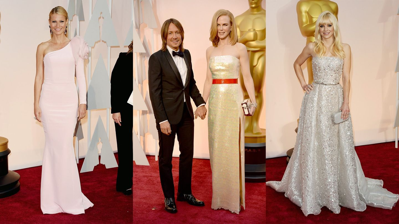 Oscars: Gwenyth Paltrow, Keith Urban and Nicole Kidman, Anna Faris