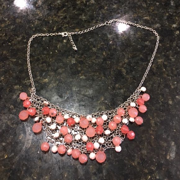 Pink jeweled necklace Adorable necklace :) great with anything!!! Pink and light pink jewels!! Jewelry Necklaces