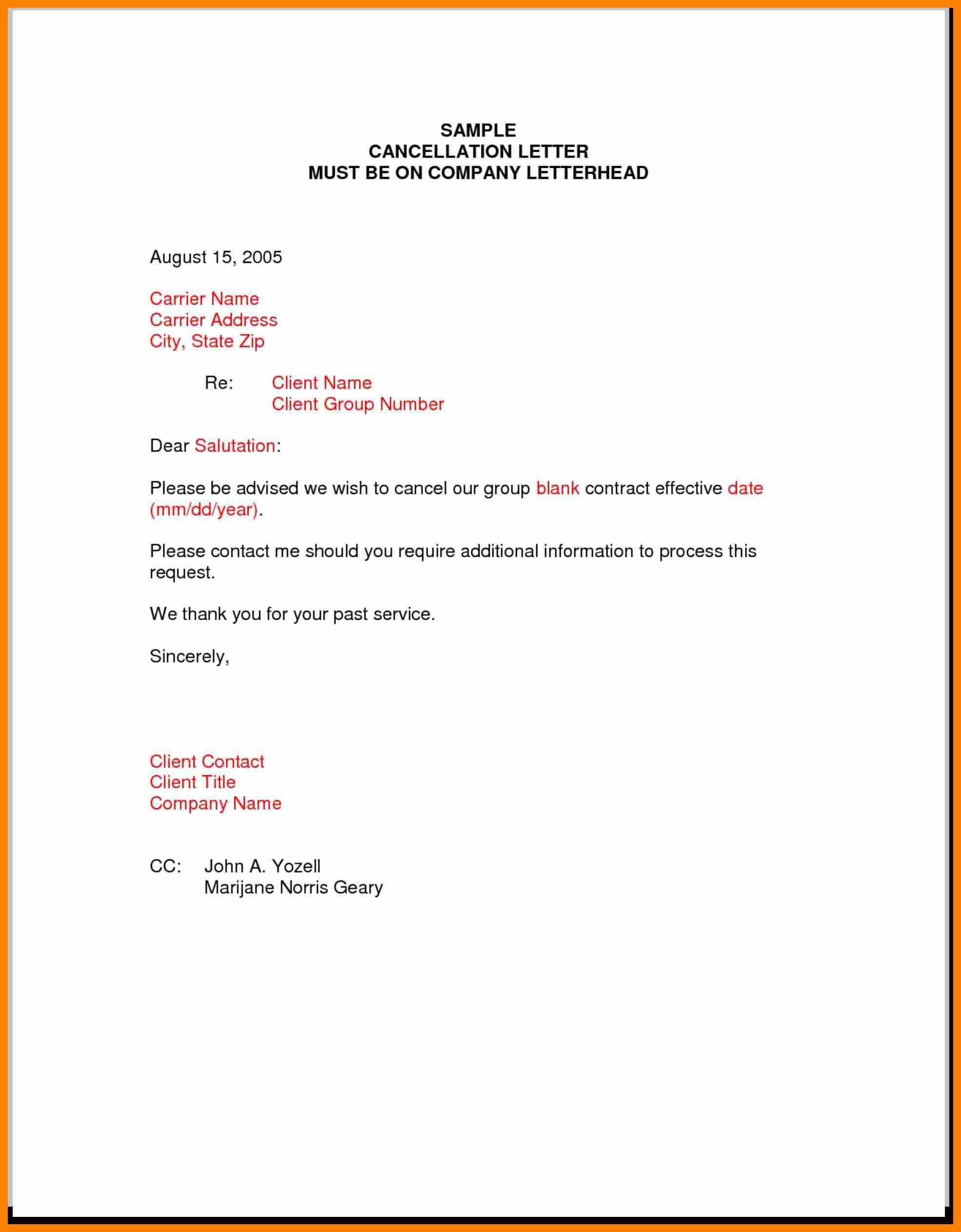 Best Free Professional Termination Letter Samples Contract