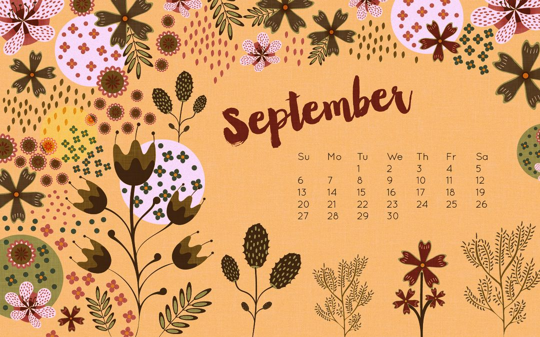September 2018 Calendar Desktop Wallpaper Desktop Calendar Wall Calendar Wallpaper