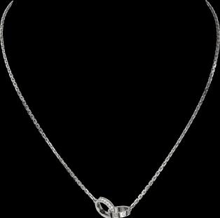 Love necklace, diamonds White gold, diamonds