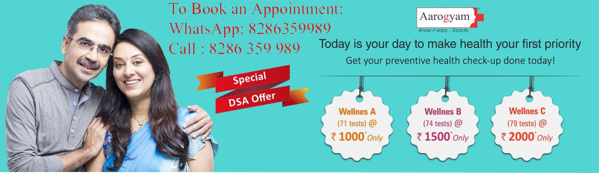 Introducing New wellness preventive health checkup packages from thyrocare.  Wellness A Profile @ Rs 1000