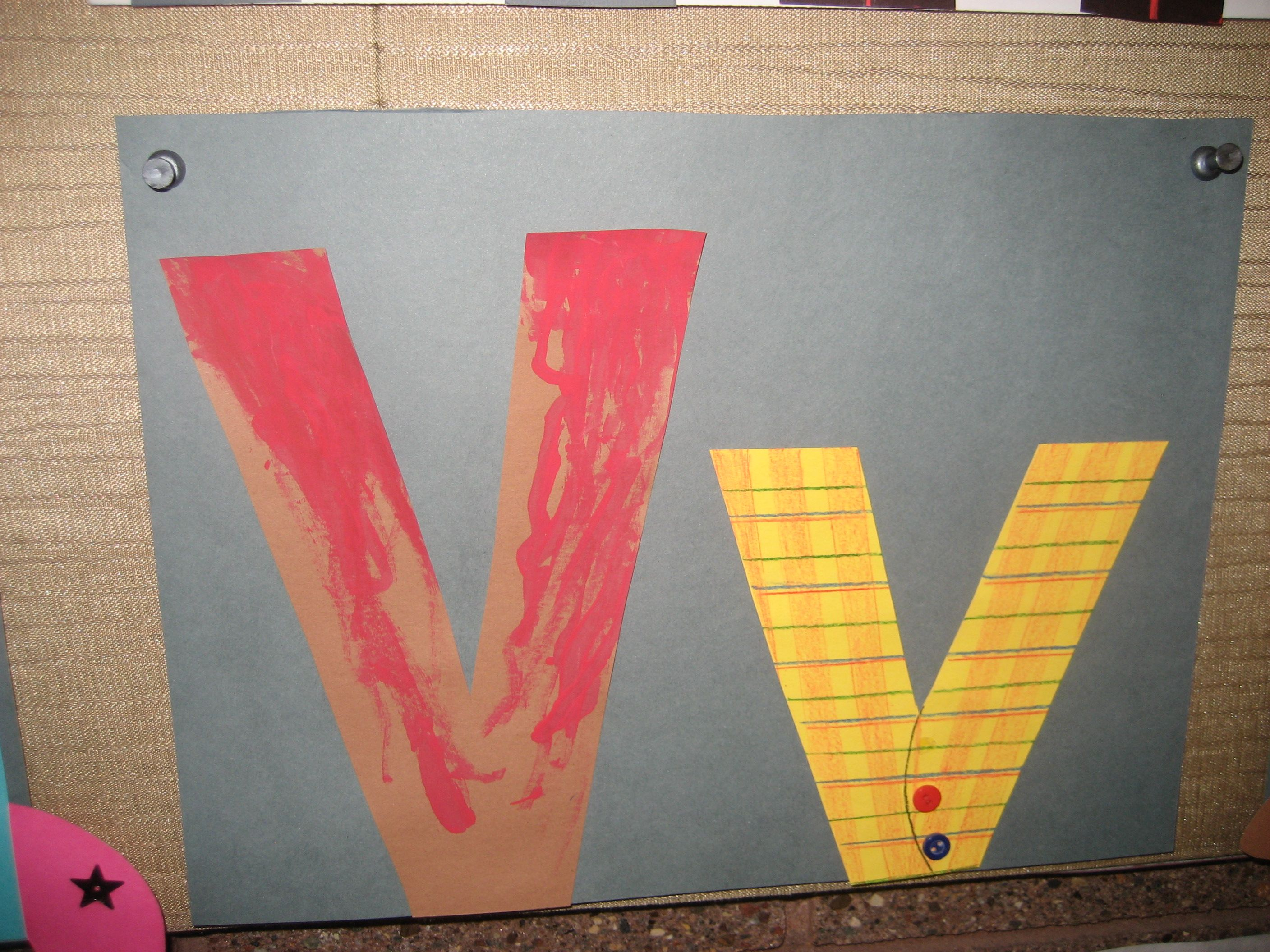 Vv Letter Of The Week Art Project Volcano Amp Vest