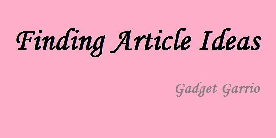 Finding Article Ideas: Pulling Out Multiple Topics