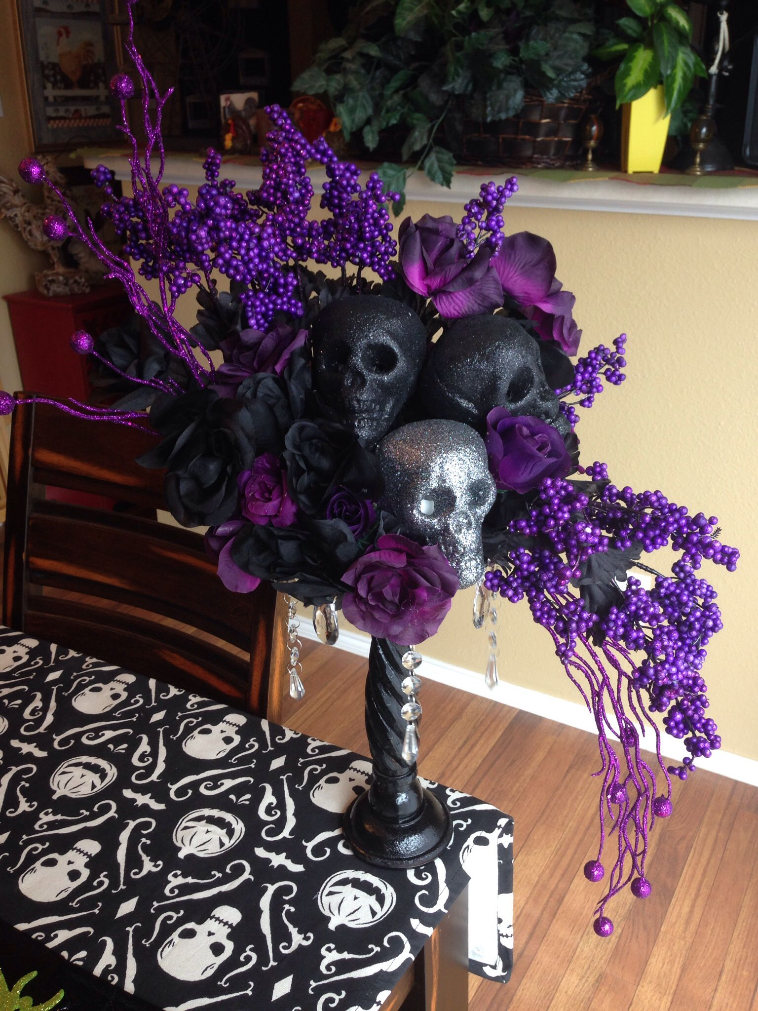 Halloween Skull Floral Centerpiecenow This Pretty I Created Using Nothing