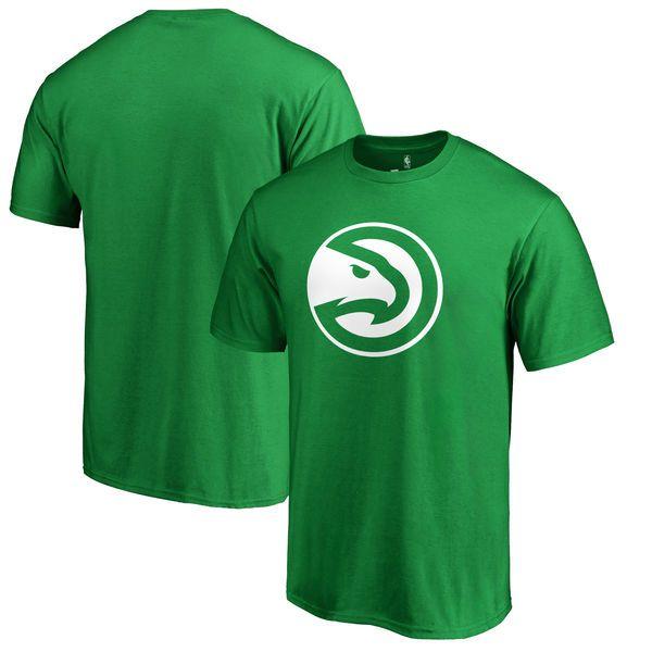 Atlanta Hawks Fanatics Branded Big & Tall St. Patrick's Day White Logo T-Shirt - Green - $39.99