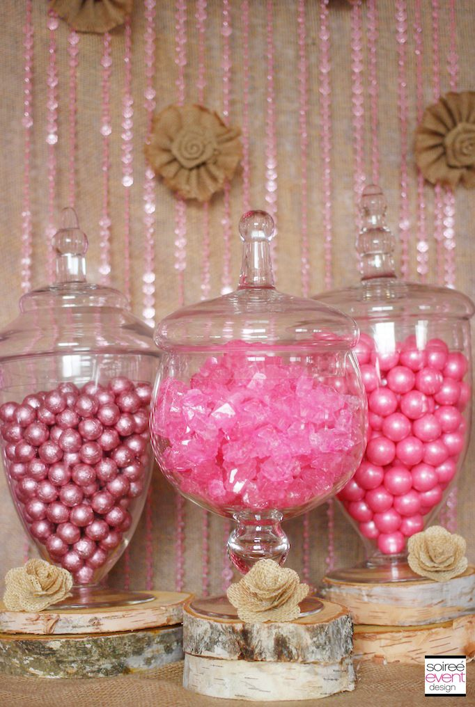 Trend Alert Rustic Glam Pink And Gold Sweets Table Pink Baby Shower Pink Gold Party Gold Dessert Table