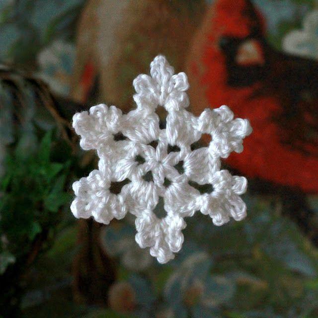 Crochet Snowflake | Schneeflocken, Schneeflocken häkeln und Stern häkeln