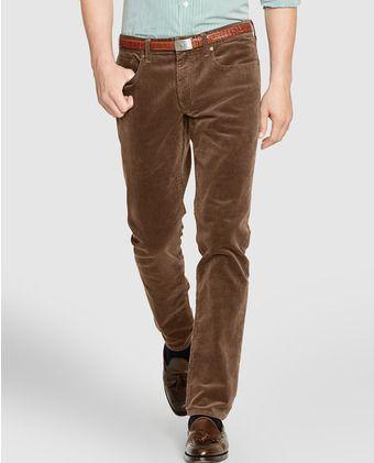 f62d13983 Pantalón de hombre de pana slim marrón
