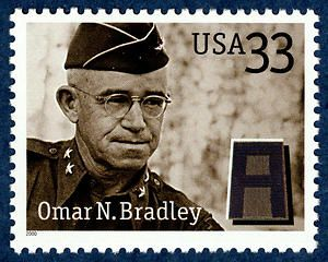 US Postage Stamp - General Omar N. Bradley.  2000