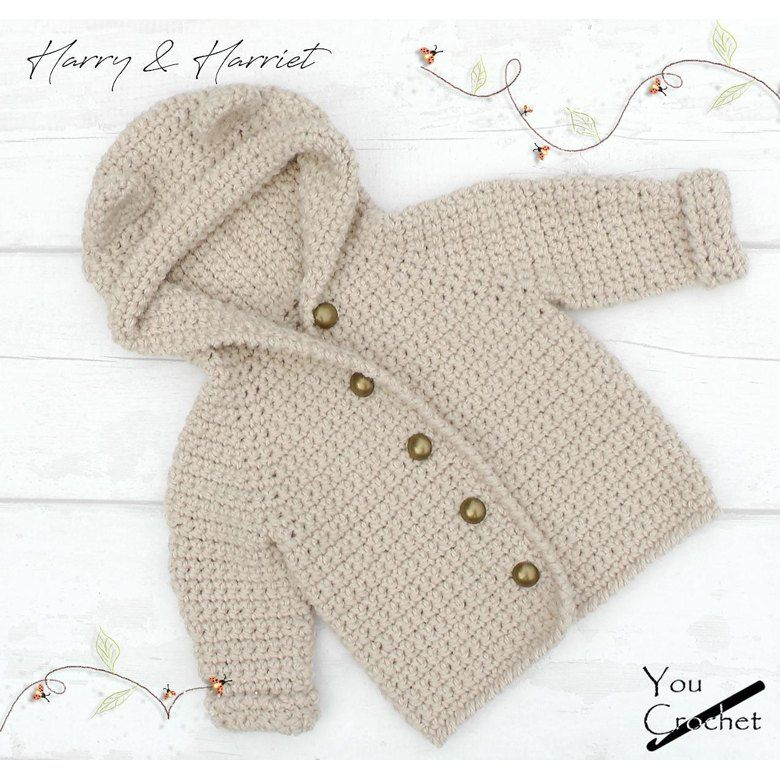 Harry & Harriet Hooded Bear Jacket Crochet pattern by You Crochet #crochetbearpatterns