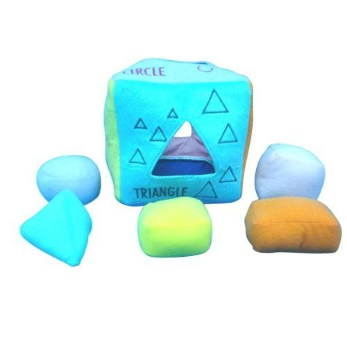 Soft Shape Sorter Encourages thinking skills as baby matches correct shape. Bright colors and shapes offer visual stimulation. Enhances fine motor skills as baby grasps shapes.  #JustKidz #BabyProduct