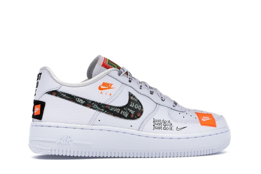 481969e01abbc Nike Air Force One 1  07 PRM Low JDI Just Do It White AO3977-100 Authentic